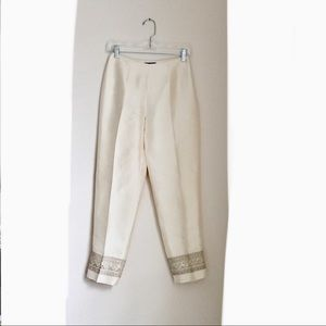 Ann Taylor beautiful silk slim leg pant, size 2p